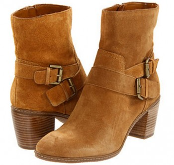 Anne Klein Natural Cow Suede Boots