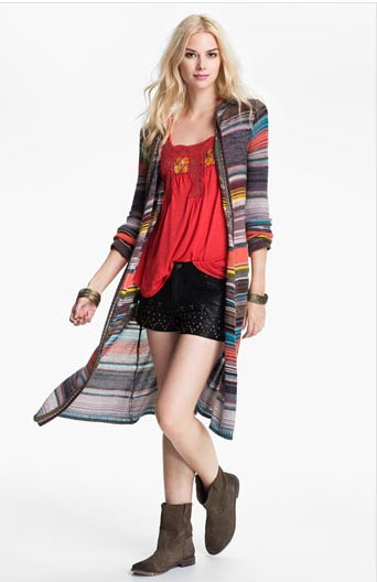 Free People Hooded Cardigan