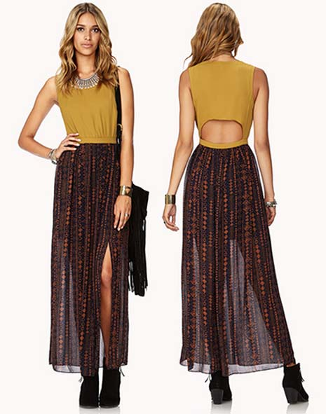 Unique Safari-Chic Maxi Dress